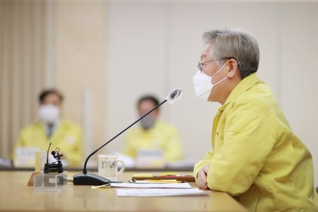 이재명 경기도지사가 15일 국회에서 열린 K-방역 긴급점검 화상회의에서 발언하고 있다. 사진=연합뉴스