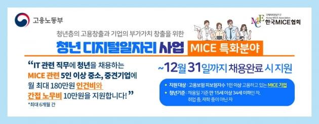 한국마이스협회 '청년 디지털 일자리 지원사업' 참여기업 모집