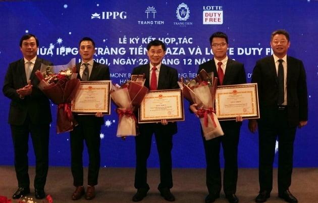 롯데면세점은 지난 22일 하노이에서 베트남 IPP그룹과 하노이시내면세점 운영 계약을 체결했다고 23일 밝혔다. 사진=롯데면세점 제공