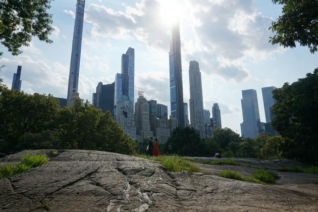 미국 뉴욕 센트럴파크에서 바라본 맨해튼 중심가 전경. 뉴욕=조재길 특파원