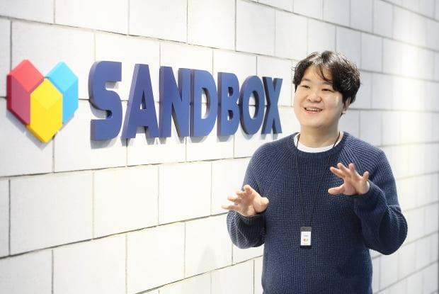 이필성 샌드박스네트워크 대표가 한국경제신문과의 인터뷰에서 사업 계획을 설명하고 있다. 강은구 기자 egkang@hankyung.com