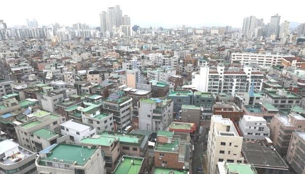 서울 광진구 자양동 일대 빌라 및 다세대 주택 밀집 지역 전경. /뉴스1
