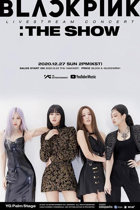 블랙핑크, 27일 데뷔 첫 라이브스트림 콘서트 'THE SHOW' 확정