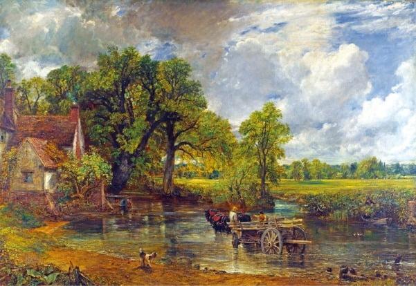 존 컨스터블, 건초마차, 1821년작, 영국 런던 내셔널갤러리 소장