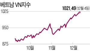 베트남 펀드 '동남아 1위'…석달 수익률 10% 웃돌아