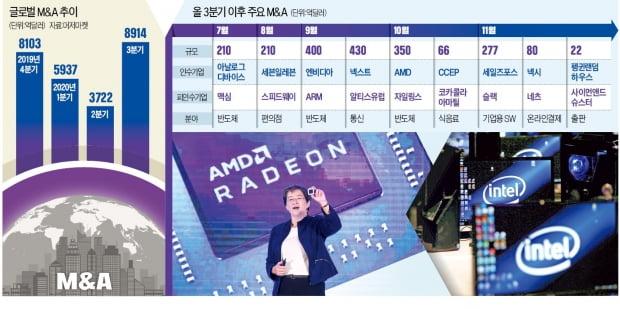 """""""인텔 피냄새 맡았다""""…AMD·엔비디아, AI·반도체 기업 잇단 인수"""