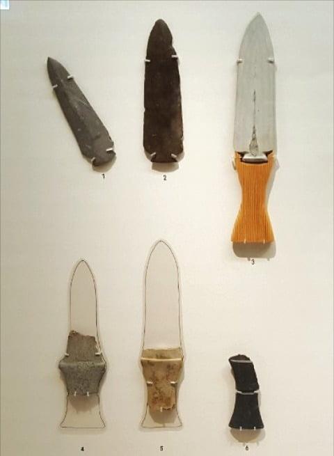 제주도 삼화지구에서 출토된 청동기시대 간돌칼.
