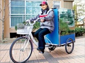 CJ대한통운 전동자전거 배달.