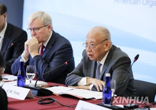 """둥젠화 """"중국은 22년간 홍콩문제에 개입한 적 없어"""""""