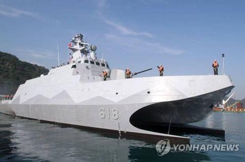 대만 '항모 킬러' 스텔스 초계함 공개…대함 작전역량 강화