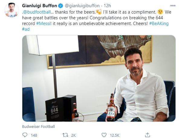 메시 644골 대기록 도운(?) 골키퍼들, 특별한 맥주 선물 받았다