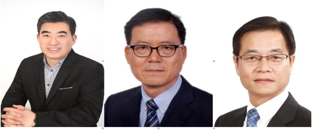 (완쪽부터) 신재원 사장, 이규오 부사장, 김세훈 부사장