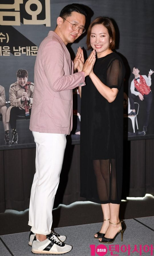 개그맨 윤형빈-정경미 부부/ 사진 = 텐아시아 사진DB