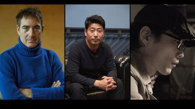 '종이의 집' 알렉스 피나 총괄 프로듀서(맨 왼쪽)와 한국판 제작진/ 사진=넷플릭스 제공
