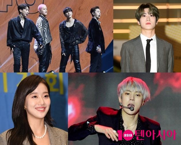 그룹 비투비포유, NCT 재현, 몬스타엑스 민혁, 에이프릴 나은(왼쪽 위부터 시계방향). 사진 = 텐아시아 사진DB