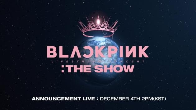 블랙핑크 THE SHOW ANNOUNCEMENT LIVE / 사진제공=YG엔터테인먼트