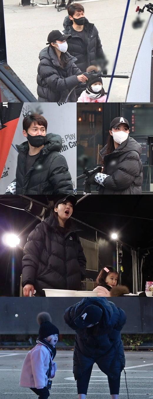 '동상이몽2' 송창의-오지영 가족이 신개념 셀프 세차장을 찾는다. / 사진제공-SBS
