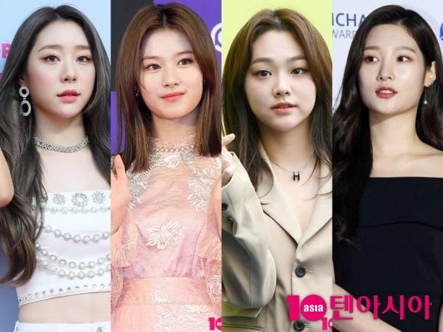 우주소녀 연정, 트와이스 사나, 구구단 미나, 정채연이 코로나19 검사를 받았다. / 사진=텐아시아DB