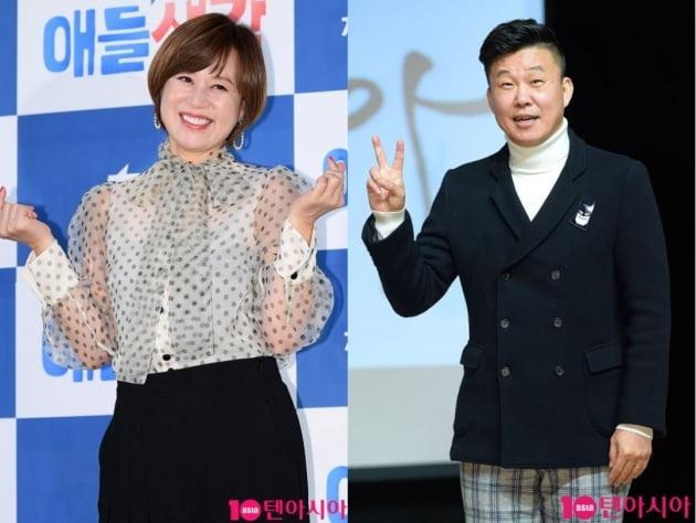 개그우먼 박미선(왼쪽), 개그맨 홍록기. /텐아시아DB