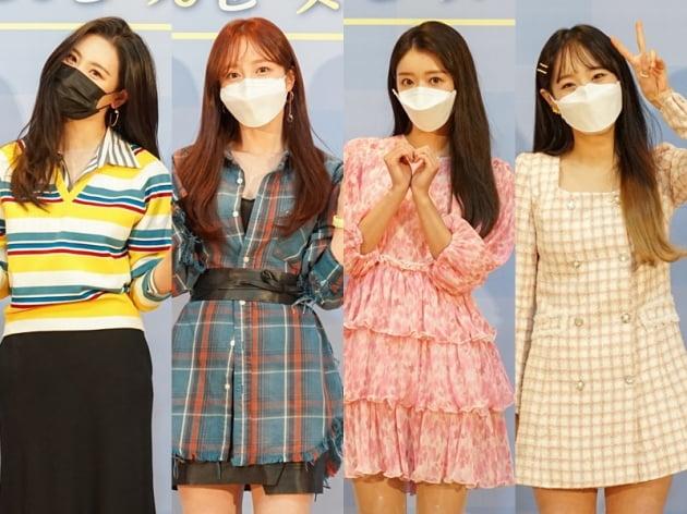 '달리는 사이' 선미(왼쪽부터), 하니, 유아, 츄/ 사진=Mnet 제공