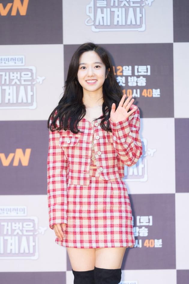 방송인 이혜성이 11일 오후 온라인 생중계된 tvN 새 예능프로그램 '설민석의 벌거벗은 세계사' 제작발표회에 참석했다. /사진제공=tvN