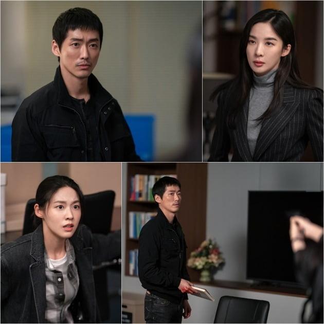 '낮과 밤' 남궁민을 마주한 이청아, 김설현의 사뭇 다른 반응이 궁금증을 자아낸다. / 사진제공=tvN