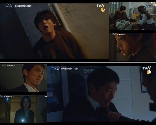 '낮과 밤' 윤선우의 정체에 궁금증이 쏠리고 있다. / 사진제공=tvN