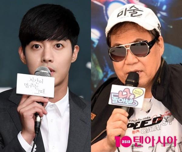 배우 김현중(왼쪽)과 가수 조영남/ 사진=KBS, 텐아시아DB