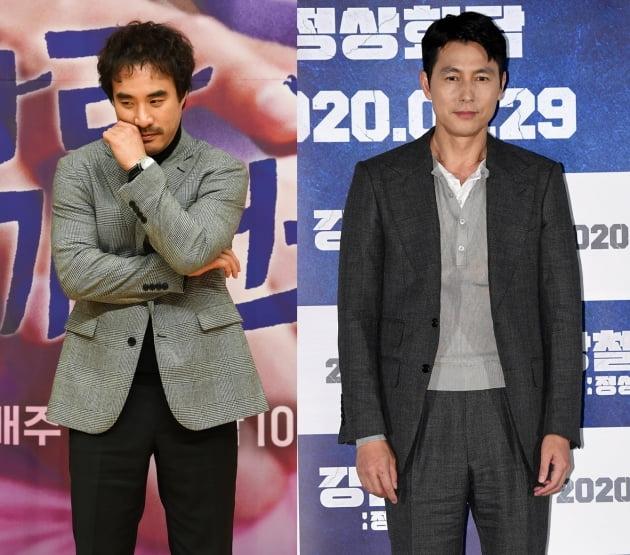 배우 배성우(왼쪽), 정우성./ 사진=텐아시아DB