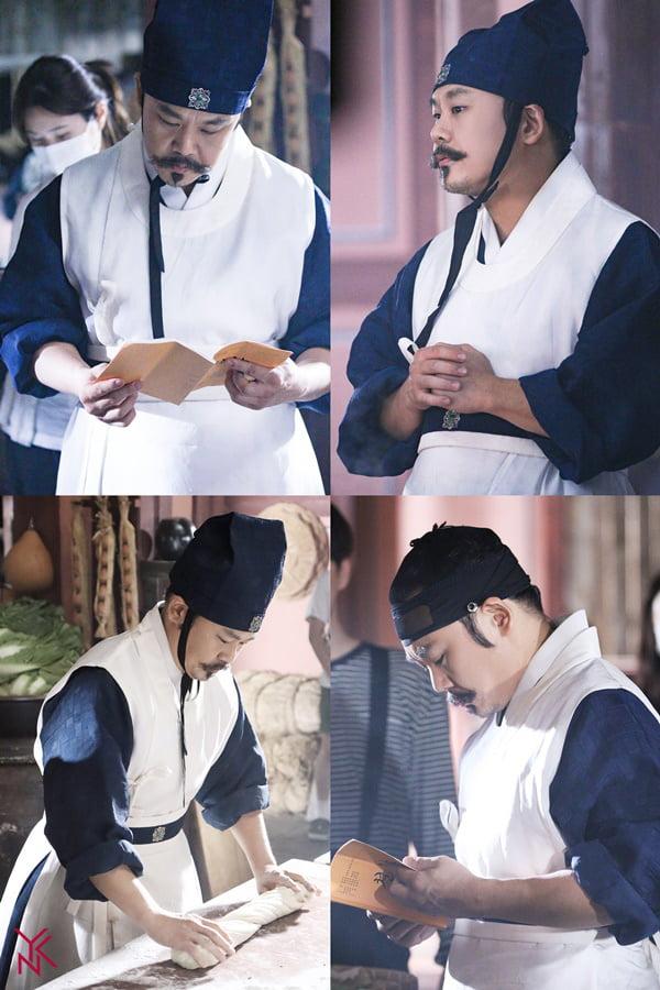 tvN 토일드라마 '철인왕후' 비하인드컷. /사진제공=YNK엔터테인먼트