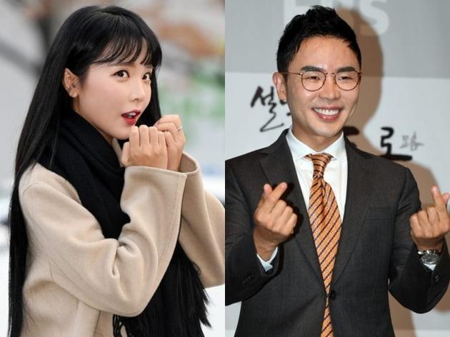 트로트 가수 홍진영(왼쪽)과 스타 강사 설민석. /텐아시아DB