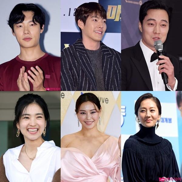 영화 '외계인' 류준열, 김우빈, 소지섭, 염정아, 이하늬, 김태리./ 사진=텐아시아DB