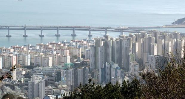 최근 조정대상지역에 재지정된 부산 수영구 일대 아파트 단지 모습. /연합뉴스