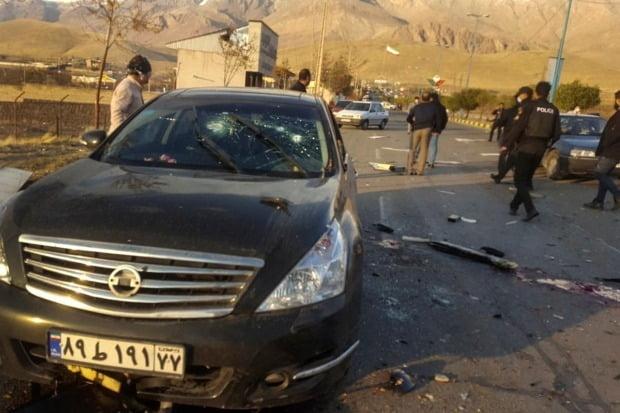 이란 핵과학자 파크리자데 암살 현장. 사진=AP