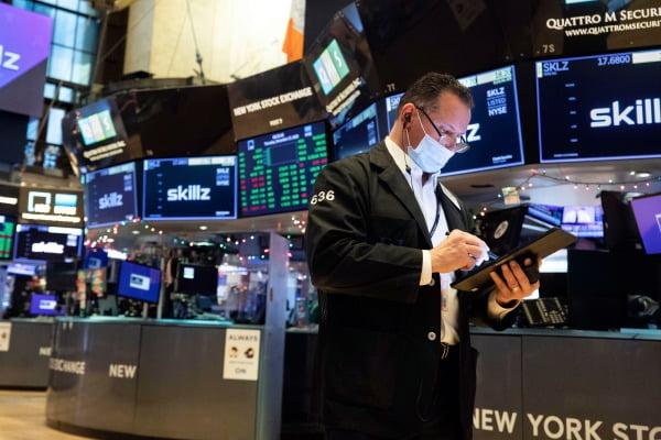 17일(현지시간) 미국 뉴욕증권거래소 내부 모습. AP연합뉴스