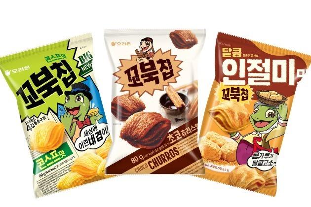 13일 오리온에 따르면 지난해 9월 출시된 '꼬북칩 초코츄러스맛'은 지난 11일 기준 판매량이 1100만봉을 돌파했다. 사진=오리온 제공