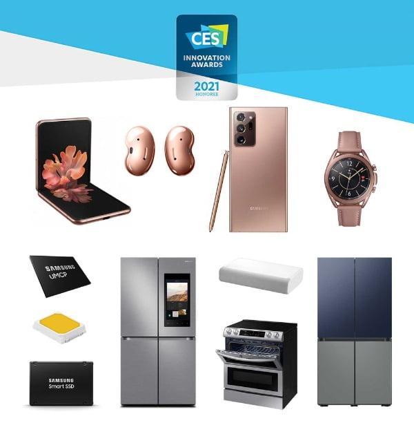 CES 혁신상을 대거 수상한 삼성전자 제품들/사진제공=삼성전자