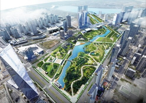 송도국제도시에 있는 센트럴파크 전경. 인천경제청 제공