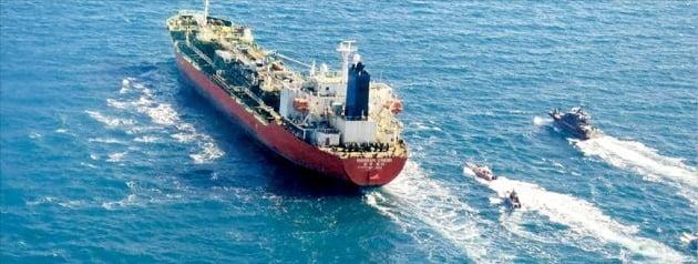 이란이 지난 4일 호르무즈 해협에서 나포한 한국 국적 선박인 한국케미호. 로이터연합뉴스