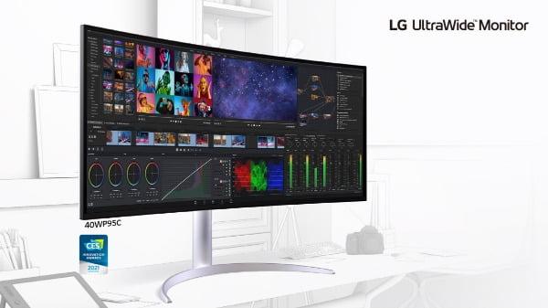 LG전자가 CES 2021에서 프리미엄 모니터 신제품을 공개하며 시장 공력을 가속화 한다. LG 울트라와이드 모니터 이미지/사진제공=LG전자
