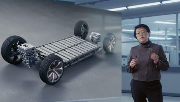 메이 카이 GM 기술 연구 매니저가 얼티움 플랫폼을 소개하고 있다. 사진=GM