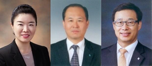 (사진 왼쪽부터) 김은희 금융소비자보호그룹장, 박주용  CIB그룹장, 전병성 디지털그룹장.(사진=IBK기업은행)