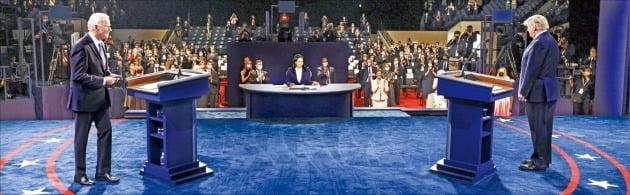 지난해 10월 미국 대선 토론 모습.  /AP