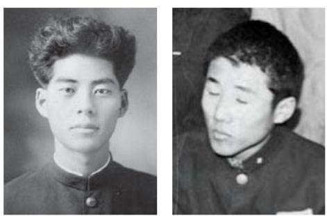 18세에 신춘문예로 등단한 시인 백석(왼쪽)과 교복 차림으로 상을 받은 소설가 최인호.