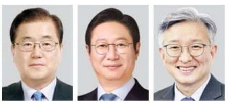 (왼쪽부터) 정의용·황희·권칠승