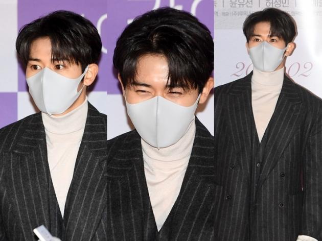 김동준, 마스크 뚫고 나오는 잘생김…역시 남자 한가인