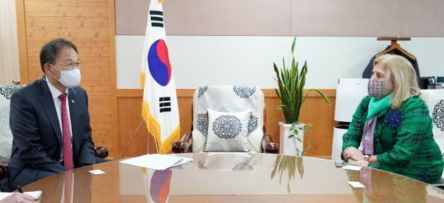 박종호 산림청장, 주한 유럽연합 대사 내정자 면담