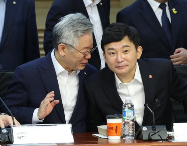이재명 경기도지사와 원희룡 제주도지사. 사진=뉴스1