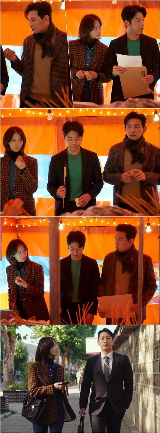 '허쉬' 임윤아, 정준원과 황정민 (사진제공= 키이스트, JTBC스튜디오)