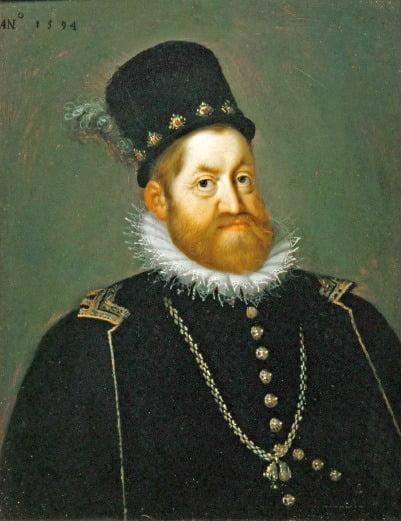 한스 폰 아헨, 루돌프 2세의 초상, 1600년경,  스웨덴 스코클로스테르성 소장.